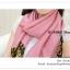 PR046-B ผ้าพันคอแฟชั่น ผ้าซาติน สีชมพู พิมพ์ลายสวย ขนาด ยาว 180 กว้าง 90 cm. thumbnail 6