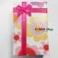 GL078 กล่องของขวัญ ลายดอกไม้สวยหวาน พร้อมโบว์สีชมพู ไว้ใส่เครื่องประดับ ต่างหู thumbnail 3