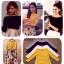 """หมดค่ะ:เสื้อคอปาดผ้าspandex แบบคุณพลอย คุณแนน คุณชมพู่ใส่ มาไม่เคยเหลือ สวยทุกสีค่ะ แมตช์กับกระโปรงน่ารักสุดๆค่ะ ลุ๊คดูคุณนู๋เลย Colour : เหลือง ขาว ดำ เทา Size : อก36""""-40"""" ยาว25"""" สนใจจองเลยจ้า thumbnail 2"""