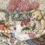 กระดาษอาร์ทพิมพ์ลาย สำหรับทำงาน เดคูพาจ Decoupage แนวภาพ หมี เท็ดดี้ แบร์ Teddy Bear นั่งข้างกระถางดอกไฮเดนเยีย (Pladao design) thumbnail 1
