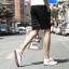 กางเกงขาสั้นแฟชั่นเกาหลี ลายทาง : สีดำ thumbnail 5