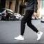 กางเกงขายาวแฟชั่น ทรงJOGGER PANTS สีดำ thumbnail 1