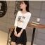 ชุดเสื้อยืดพิมพ์ลายนกฮูก คู่กระโปรง thumbnail 4