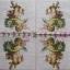 แนวภาพความรัก กามเทพถือช่อดอกไม้ ภาพโทนสีชมพู เป็นภาพ 4 บล๊อค กระดาษแนพกิ้นสำหรับทำงาน เดคูพาจ Decoupage Paper Napkins ขนาด 33X33cm thumbnail 2