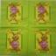 แนวภาพการ์ตูน น้องกระต่ายถือแครอท ในกรอบ ภาพโทนสีเขียว เป็นภาพ 4 บล๊อค กระดาษแนพกิ้นสำหรับทำงาน เดคูพาจ Decoupage Paper Napkins ขนาด 33X33cm thumbnail 2
