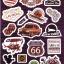 STGP010 สติกเกอร์ Sticker กระดาษเคลือบกันน้ำ ลายการ์ตูน กราฟฟิก วินเทจ สวย เท่ห์ ติดกระเป๋า ของใช้ ตู้ ผนัง ตกแต่งสิ่งของ thumbnail 1