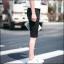 กางเกงขาสั้นสตรีทแฟชั่น Denim : สีดำ thumbnail 8