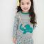 Huanzhu kids ชุดเซตเด็กหญิง 2 ชิ้น เสื้อ+กางเกง ผ้าเนื้อดีน่ารักสไตล์เกาหลี มีขนาด140 thumbnail 1
