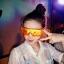 แว่นกันน้ำสงกรานต์ ไอเทมนี้ฮิตเว่อร์ แพ็ค10 ราคาถูก สีม่วง thumbnail 4