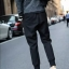 กางเกงขายาวแฟชั่น ทรงJOGGER PANTS สีดำ thumbnail 5