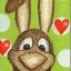 แนวภาพสัตว์ กระต่ายน้อยสีน้ำตาลบนพื้นเขียวลายหัวใจ มีภาพกระต่าย 4 ตัวในแผ่น กระดาษแนพคินสำหรับทำงาน เดคูพาจ Decoupage Paper Napkins ขนาด 21X22cm thumbnail 1