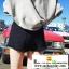 กางเกงยีนส์ขาดขาสั้นสีดำ thumbnail 3