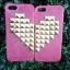 เคส IPhone 5 เคสไอโฟน5 เคสแบบหัวใจประกบคู่ เหมาะสำหรับคู่รัก สีชมพูสดใส ขายเป็นคู่เซต (2 อัน) thumbnail 1