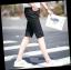 กางเกงขาสั้นสตรีทแฟชั่น Denim : สีดำ thumbnail 4