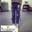 กางเกงยีนส์ขาดขายาวปักลายการ์ตูนมิกกี้เมาส์ thumbnail 5