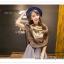 PR050 ผ้าพันคอแฟชั่น ผ้าไหม พิมพ์ลายสวย ขนาด ยาว 180 กว้าง 90 cm. thumbnail 2