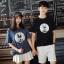 เสื้อคู่รักแขนสั้นมีลายสไตล์เกาหลี thumbnail 1