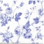 แนวภาพดอกไม้ เป็นช่อดอกกุหลาบสีฟ้า บนพื้นขาว เป็นภาพเต็มแผ่น กระดาษแนพกิ้นสำหรับทำงาน เดคูพาจ Decoupage Paper Napkins ขนาด 33X33cm thumbnail 1