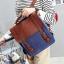 กระเป๋าเป้สะพาย หนัง ผสมผ้า Macarons thumbnail 5