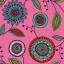 แนวภาพลายแต่ง ลายเส้นรูปวงกลม ดอกไม้ ภาพโทนสีชมพู เป็นภาพกระจายเต็มแผ่น กระดาษแนพกิ้นสำหรับทำงาน เดคูพาจ Decoupage Paper Napkins ขนาด 33X33cm thumbnail 1