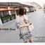 VS019 ชุดเดรสสั้น สีขาว ผ้าลายขวางสีกรมท่า คอกลม แขนสามส่วน ผ้าฝ้าย ใส่สบายคะ thumbnail 12