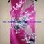 ชุดจีนกี่เพ้า สีชมพู ลายนกยูง thumbnail 2