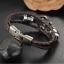 สร้อยข้อมือหนังถัก สแตนเลสสตีล รุ่น KOMA-BR0003 สีดำ thumbnail 4