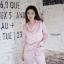 เซ็ตชุดนอนเสื้อแขนยาวและกางเกงขายาวค่ะ ทำจากเนื้อผ้าซิลค์ซาติน ผ้านุ่มลื่น เป็นผ้านำเข้าค่ะ ใส่สบาย ตัวเสื้อกรีนคำว่า sweet ตรงกระเป๋าเสื้อ มาพร้อมผ้าปิดตา สกรีนคำว่า Dream น่ารักมากค่ะ thumbnail 7