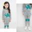 Huanzhu kids ชุดเซตเด็กหญิง 2 ชิ้น เสื้อ+กางเกง ผ้าเนื้อดีน่ารักสไตล์เกาหลี มีขนาด140 thumbnail 4