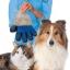 ถุงมือแปรงขนสัตว์ สีน้ำเงิน thumbnail 2