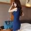 เดรสสั้นให้นม คอวี 052 มีสี ชมพู/ น้ำเงินเข้ม/ เหลืองแอพพริคอท thumbnail 7