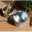 พร้อมส่ง เซต 2 ใบ กระถางสังกะสีหูเชือก + ถังสักกะสีหูไม้ั สีพื้นเก่า ทำลายนูน Zakka thumbnail 6