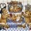 กระดาษสาพิมพ์ลาย สำหรับทำงาน เดคูพาจ Decoupage งานฝีมือ งาน Handmade แนวภาพ หมี เท็ดดี้ Teddy bear กับตะกร้าแมว thumbnail 2