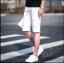 กางเกงขาสั้นสตรีทแฟชั่น Denim : สีขาว thumbnail 3