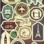 STGP014 สติกเกอร์ Sticker กระดาษเคลือบกันน้ำ ลายการ์ตูน กราฟฟิก วินเทจ สวย เท่ห์ ติดกระเป๋า ของใช้ ตู้ ผนัง ตกแต่งสิ่งของ thumbnail 1