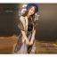 PR050 ผ้าพันคอแฟชั่น ผ้าไหม พิมพ์ลายสวย ขนาด ยาว 180 กว้าง 90 cm. thumbnail 1