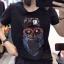 เสื้อยืดแขนสั้น ปักเลื่อมลายการ์ตูนนกฮูกตัวใหญ่ที่กลางเสื้อ มี 2 สี คือ ขาวและดำค่ะ thumbnail 3