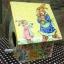 กล่องทิชชูไม้ทรงบ้านนก สำหรับทิชชูม้วน ลายครอบครัวกระต่าย พ่อ แม่ thumbnail 2