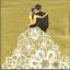 แนวภาพ Wedding บ่าวสาวตระกองกอด บนพื้นสีทอง กระดาษแนพกิ้นสำหรับทำงาน เดคูพาจ Decoupage Paper Napkins เป็นภาพ 4 บล๊อค ขนาด 33X33cm thumbnail 1