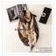 PR050 ผ้าพันคอแฟชั่น ผ้าไหม พิมพ์ลายสวย ขนาด ยาว 180 กว้าง 90 cm. thumbnail 6