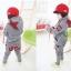 เสื้อผ้าเด็ก ชุดเช็ต เสื้อแขนยาวมีฮูทเห่ห์ๆ + กางเกงขายาว สไตล์เกาหลี thumbnail 3