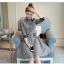 เสื้อแฟชั่นผ้าฝ้าเดรสสไตลเกาหลี-เทา thumbnail 2