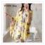 PR030-B ผ้าพันคอแฟชั่น ผ้าไหม พิมพ์ลายสวย ขนาด ยาว 190 กว้าง 160 cm. thumbnail 12
