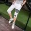 กางเกงขาสั้น3ส่วน JOGGER WHITE/BLACK STRIPED thumbnail 6