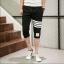 กางเกงขาสั้น3ส่วน JOGGER BLACK/WHITE STRIPED thumbnail 1