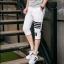กางเกงขาสั้น3ส่วน JOGGER WHITE/BLACK STRIPED thumbnail 5