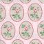 แนวภาพ ลายดอกไม้ ในกรอบล้อมรูปไข่สีเขียวหวาน บนพื้นลายทางชมพู เป็นภาพกระจายเต็มแผ่น กระดาษแนพกิ้นสำหรับทำงาน เดคูพาจ Decoupage Paper Napkins ขนาด 33X33cm thumbnail 1