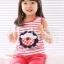 ชุดเซตเด็กหญิง 2 ชิ้น เสื้อ+กางเกง ผ้าเนื้อดีน่ารักสไตล์เกาหลี thumbnail 2