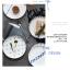 Pre-Order จานข้าวเซรามิค สไตล์ Nordic สีฟ้าขาว มี 5 ลาย thumbnail 9
