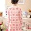 เสื้อให้นม+กางเกงคนท้อง เปิดแบบ C 041 ลายหมีสีฟ้า/ ชมพู/ ส้มแดง (XL อก39นิ้ว) (XXL อก43นิ้ว) thumbnail 11